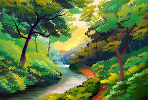 Trail in the Forest Custom Wooden Jigsaw Puzzles Adult Decompression Cartoon Educational Toys Games DIY Decorative Painting 1000 pcs