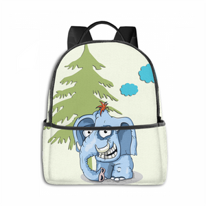 Angry Elephant Multifunctional Large Capacity Backpacks For Students To Go To School Personalized Backpacks
