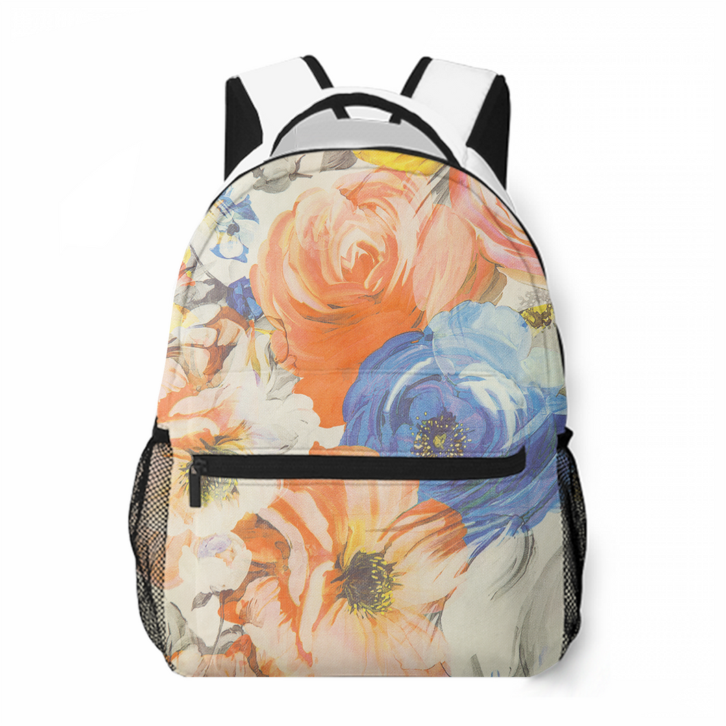 Gorgeous Flowers Leisure Backpack Satchel Bag Popular Commuting To School Large Capacity Customized Personality Backpack