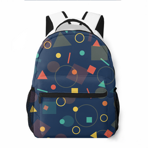 Geometric Figure Leisure Backpack Commuting To School Large Capacity Personalized Customized Backpack