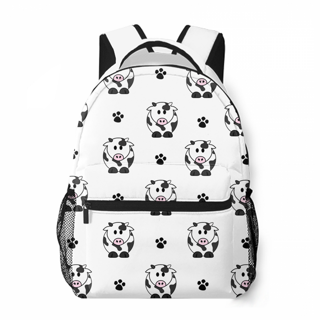 Cute Cow Leisure Backpack Satchel Bag Popular Commuting To School Large Capacity Customized Personality Backpack