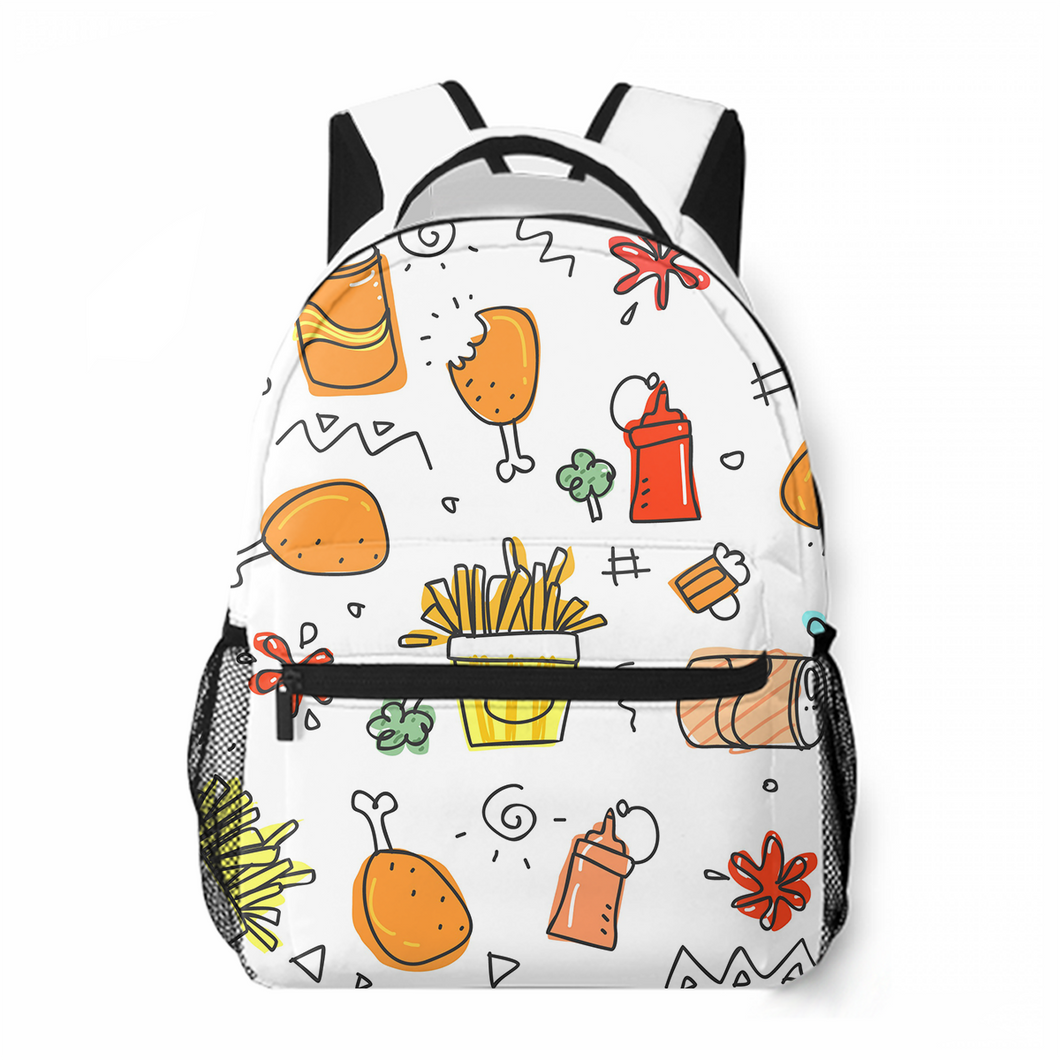 Delicious Food Leisure Backpack Commuting To School Large Capacity Personalized Customized Backpack