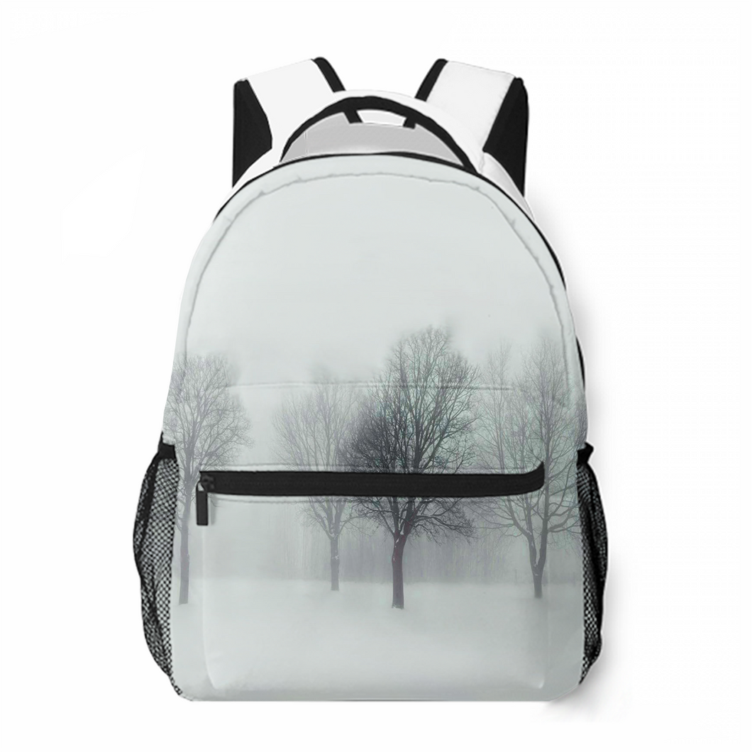 The Winter Haze Leisure Backpack Commuting To School Large Capacity Personalized Customized Backpack