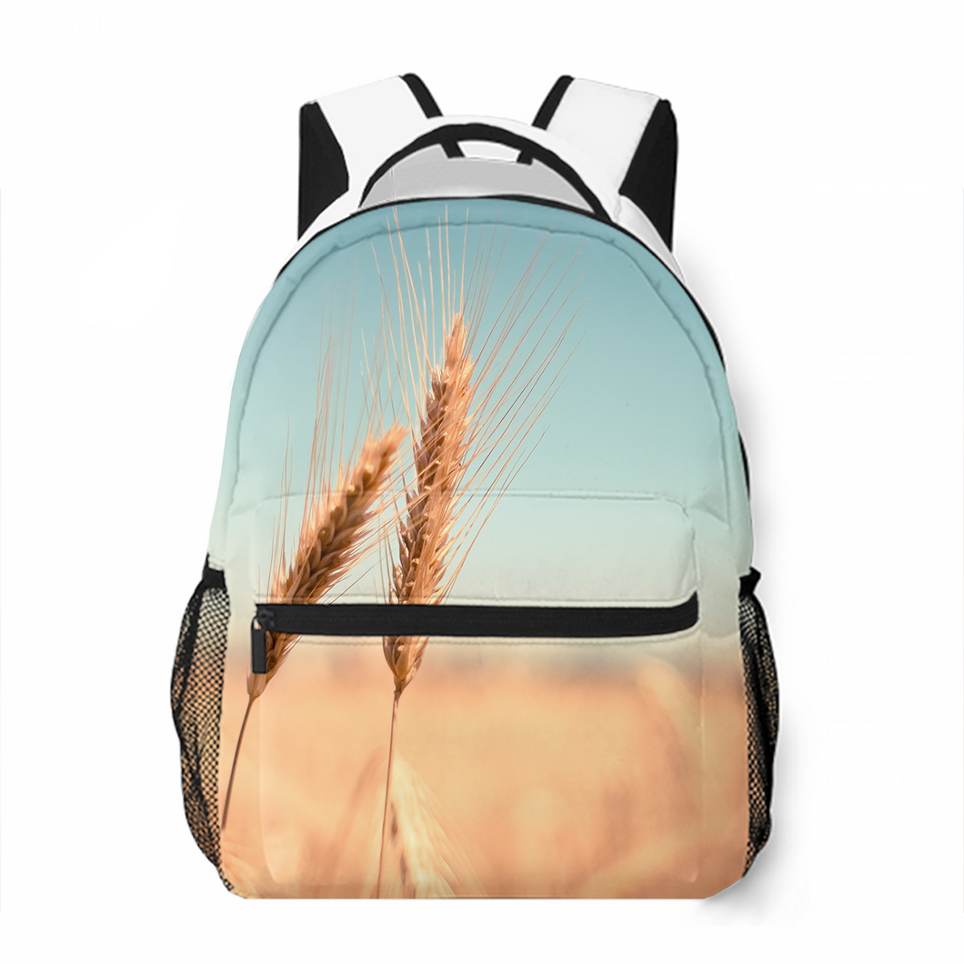 Growing Wheat Leisure Backpack Satchel Bag Popular Commuting To School Large Capacity Customized Personality Backpack