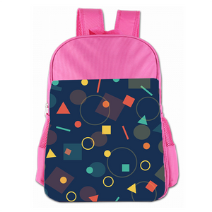 Geometric Figure Cute Simple Large Capacity Children's Schoolbag Girls Commuter Backpack