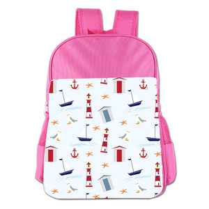 Lighthouses And Ships Cute Simple Large Capacity Children's Schoolbag Girls Commuter Backpack