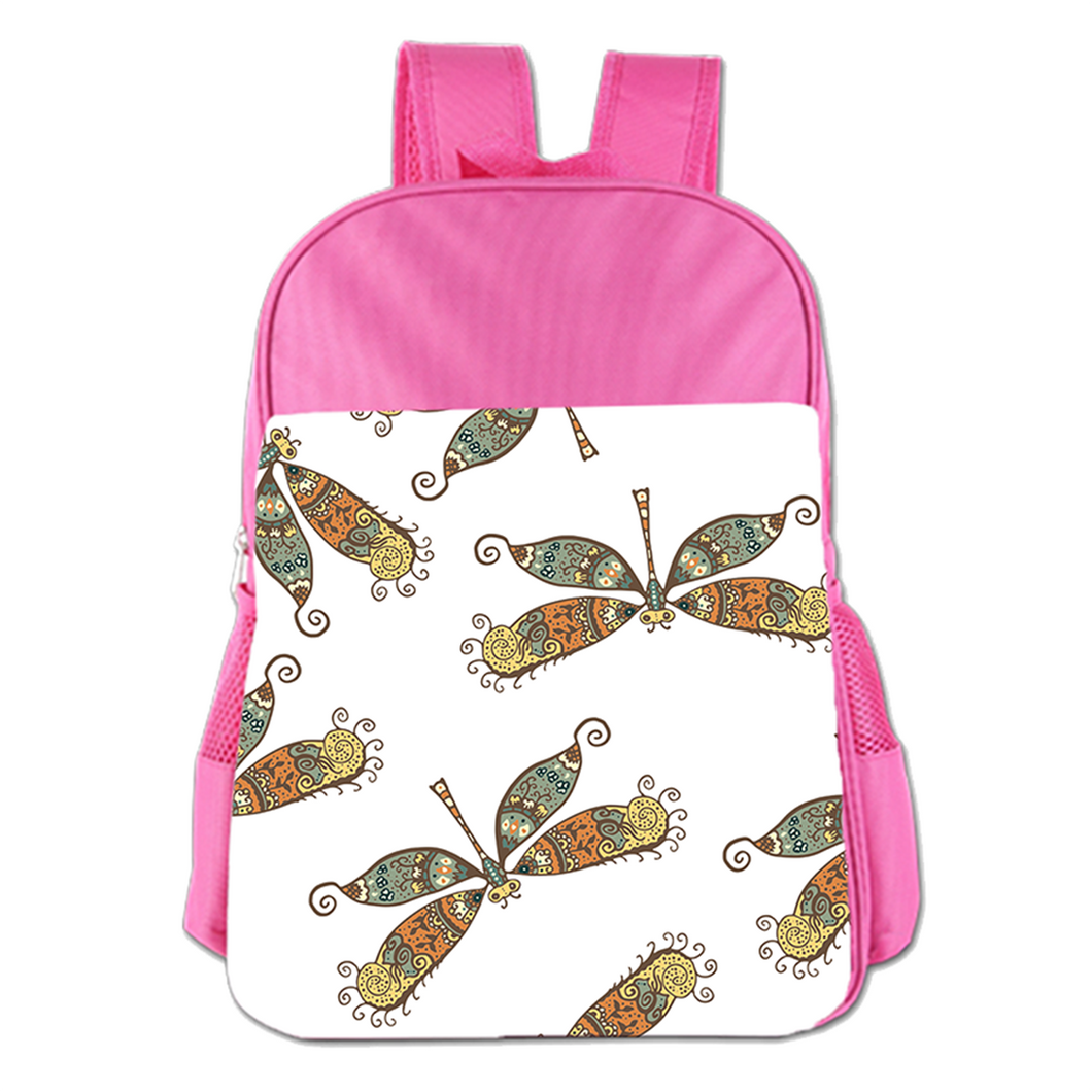 Retro Dragonfly Design Cute Simple Large Capacity Children's Schoolbag Girls Commuter Backpack