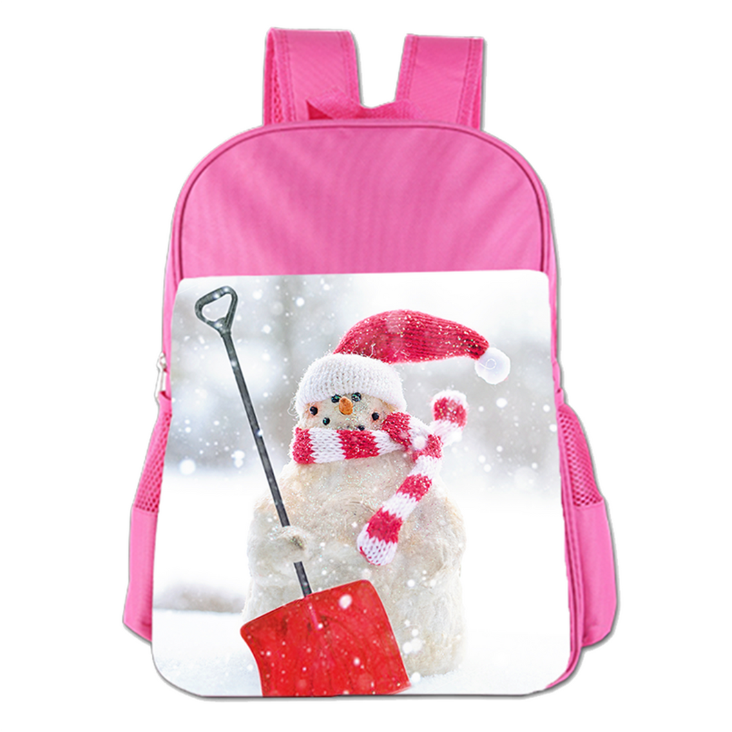Christmas Snowman Cute Simple Large Capacity Children's Schoolbag Girls Commuter Backpack