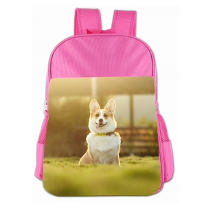 Laughing Corgi Cute Simple Large Capacity Children's Schoolbag Girls Commuter Backpack