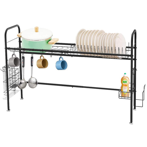 Single-Tier Dish Drying Rack (Black)