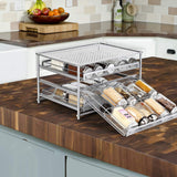 3-Tier Metal Spice Rack Organizer for Cabinet