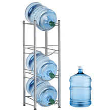 Load image into Gallery viewer, HEOMU 4-Tier  Water Cooler Jug Rack - Silver