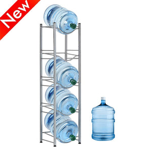 HEOMU 5-Tier Water Cooler Jug Rack - Silver