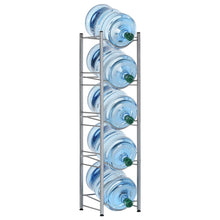 Load image into Gallery viewer, HEOMU 5-Tier Water Cooler Jug Rack - Silver