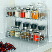 Load image into Gallery viewer, HEOMU 2-Tier Spice Racks Countertop-Silver