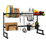 Over Sink Dish Drying Rack for Counter (Sink size≤36inch, Black)