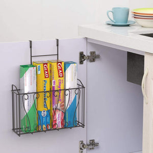 HEOMU Pan and Pot Lid Organizer Rack Holder with 5 Adjustable Dividers for Kitchen Cabinet Pantry