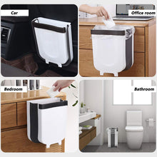 Load image into Gallery viewer, Kitchen Trash Can, Hanging Collapsible Waste Bin