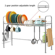 Load image into Gallery viewer, Single Tier Over Sink Dish Drying Rack- Silver