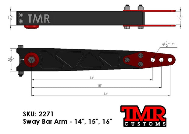 "14""/15""/16"" Sway Bar Arms"