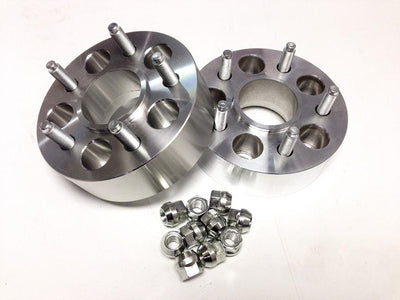 "5 x 5"" Wheel Spacers, 1/2""-20 Stud, 2"" Thick"