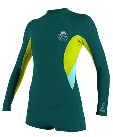 WMS O'NEILL Bahia 2/1 L/S Short Spring DPTEAL/LIME/SEAGRASS