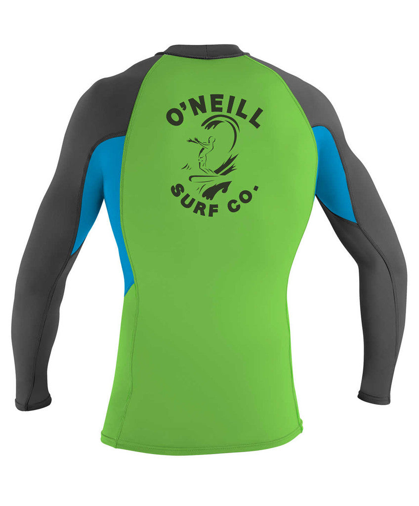 O'NEILL - SKINS GRAPHIC L/S CREW GRAPH/SKY/DAYGLO
