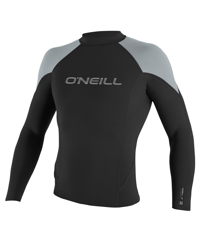 O'NEILL - HAMMER 1.5MM L/S CREW BLK/COOLGRY/BRTBLU