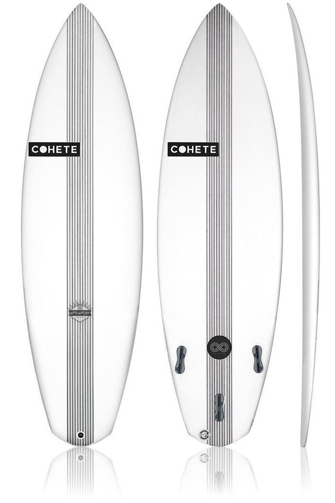 Cohete Surfboards Shortboard Whiplash Carbon Stringer surfing surf Greece FCS2