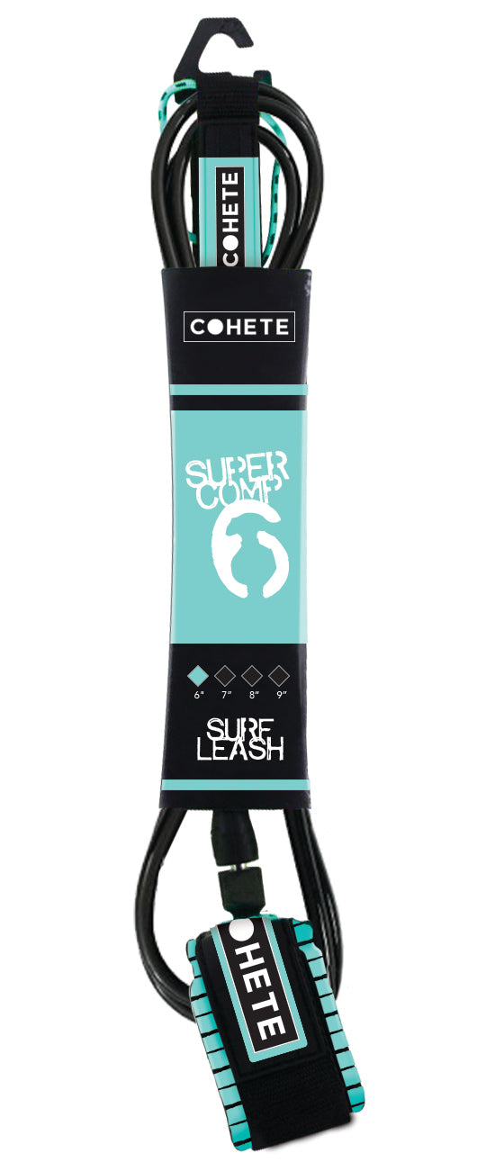 COHETE SUPER COMP LEASH 6''-BLACK