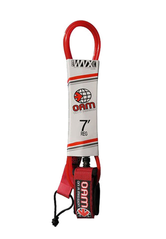 OAM - 7' REGULAR LEASH RED