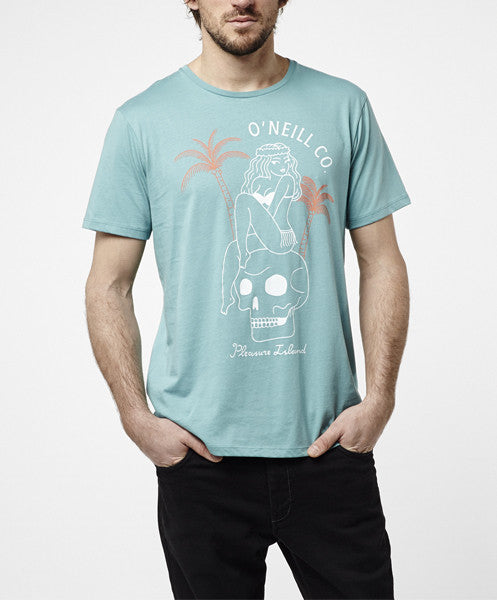 PLEASURE ISLAND T-SHIRT - DUSTY TURQOISE