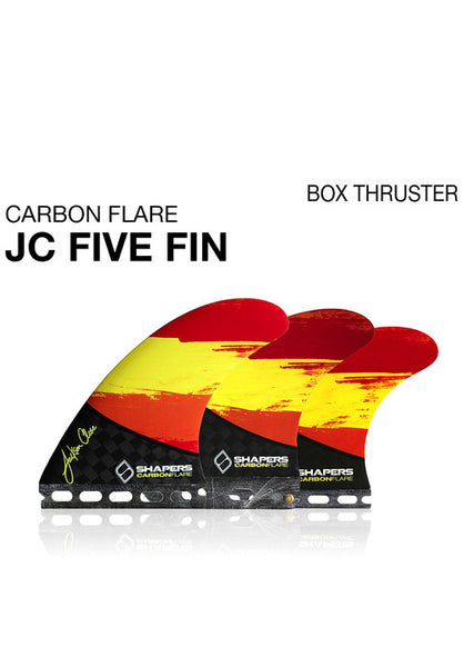 SHAPERS - CARBON FLARE JC01: 5 FIN SET