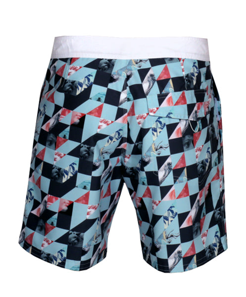 "REVOLVE 17"" BOARDSHORT/BLUE PATTERN"