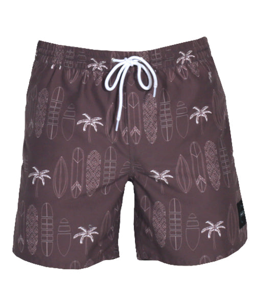 "LINEUP 17"" BOARDSHORT/PALM TREE"