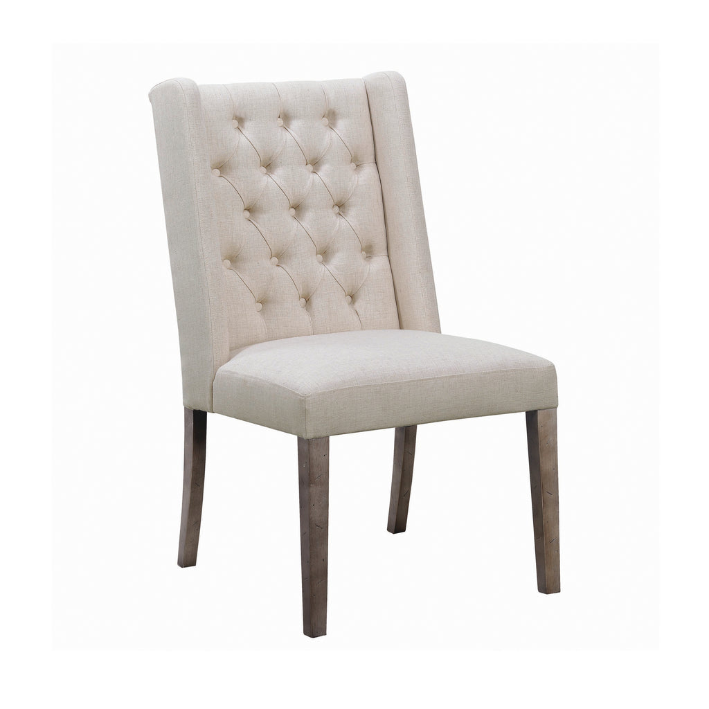 Bexley Beige Tufted Side Chair (Set of 2, $149ea)