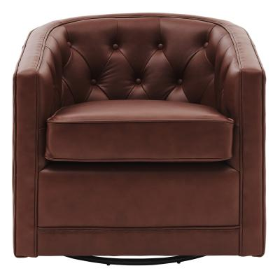 Walsh Top Grain Leather Swivel Chair