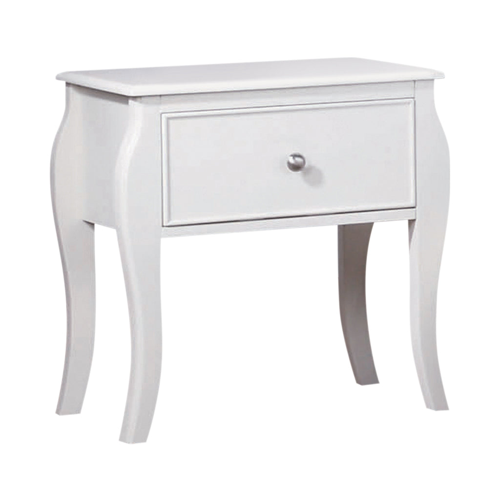 Dominique Collection Night Stand  White Finish