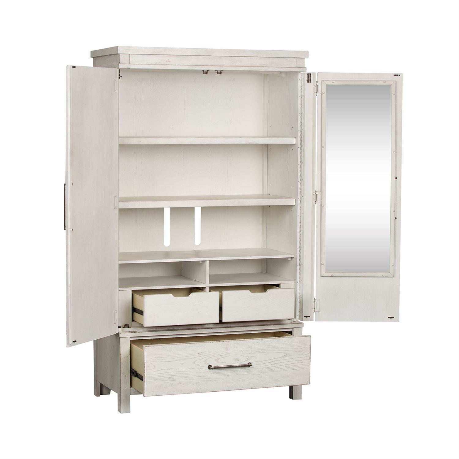 Modern Farmhouse Collection Armoire - Antique White