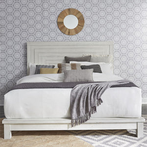 Modern Farmhouse Collection Queen Platform Bed - Antique White