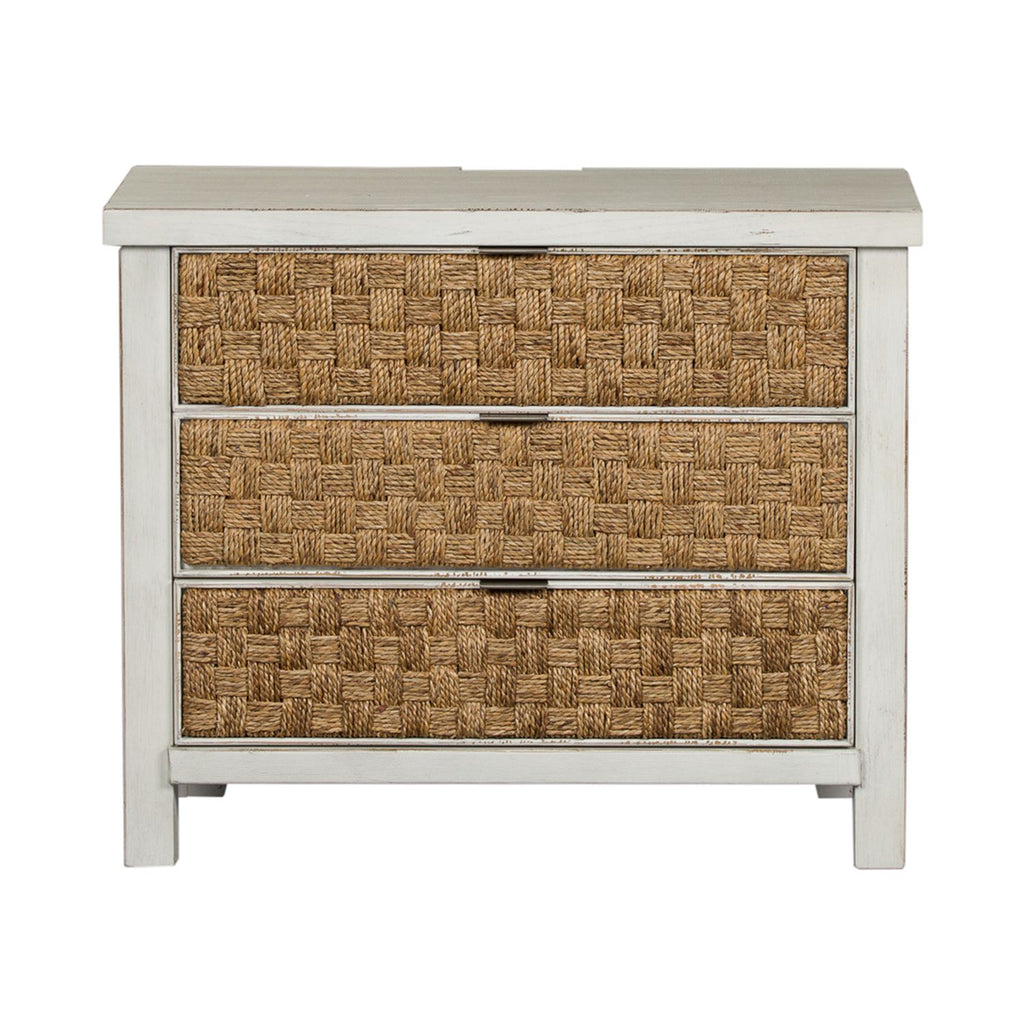 Modern Farmhouse Collection Bedside Chest - Antique White