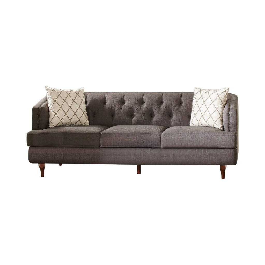 Shelby Collection Tufted Back Sofa - Grey