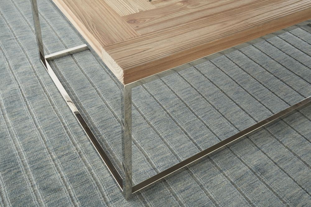 Ace Collection Coffee Table - Reclaimed Wood/Stainless Steel