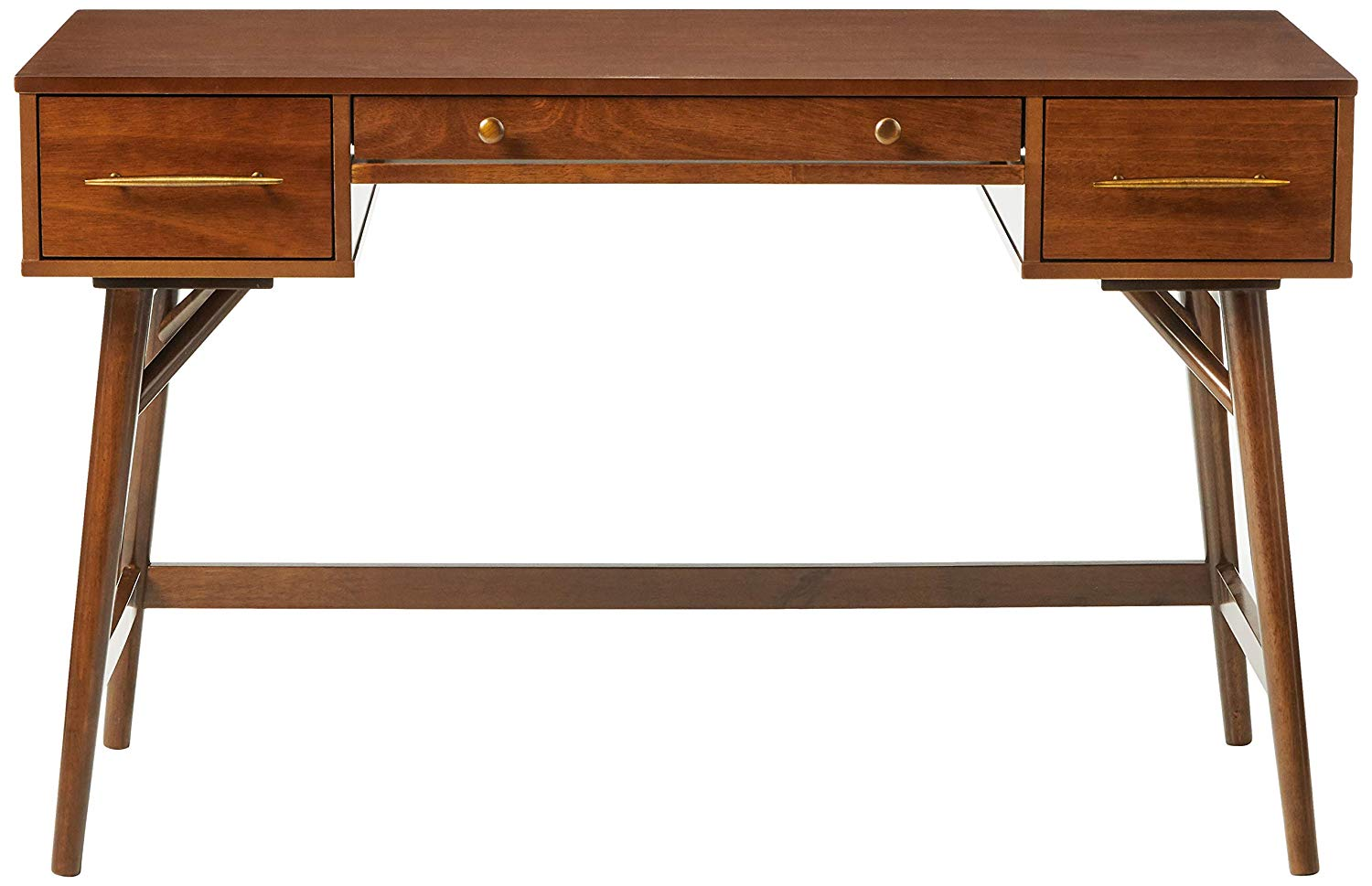 Essence Mid Century Modern Desk - Walnut Finish