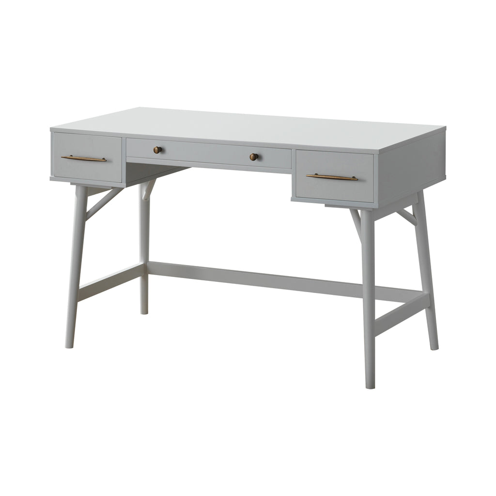 Essence Mid Century Modern Desk - White Finish