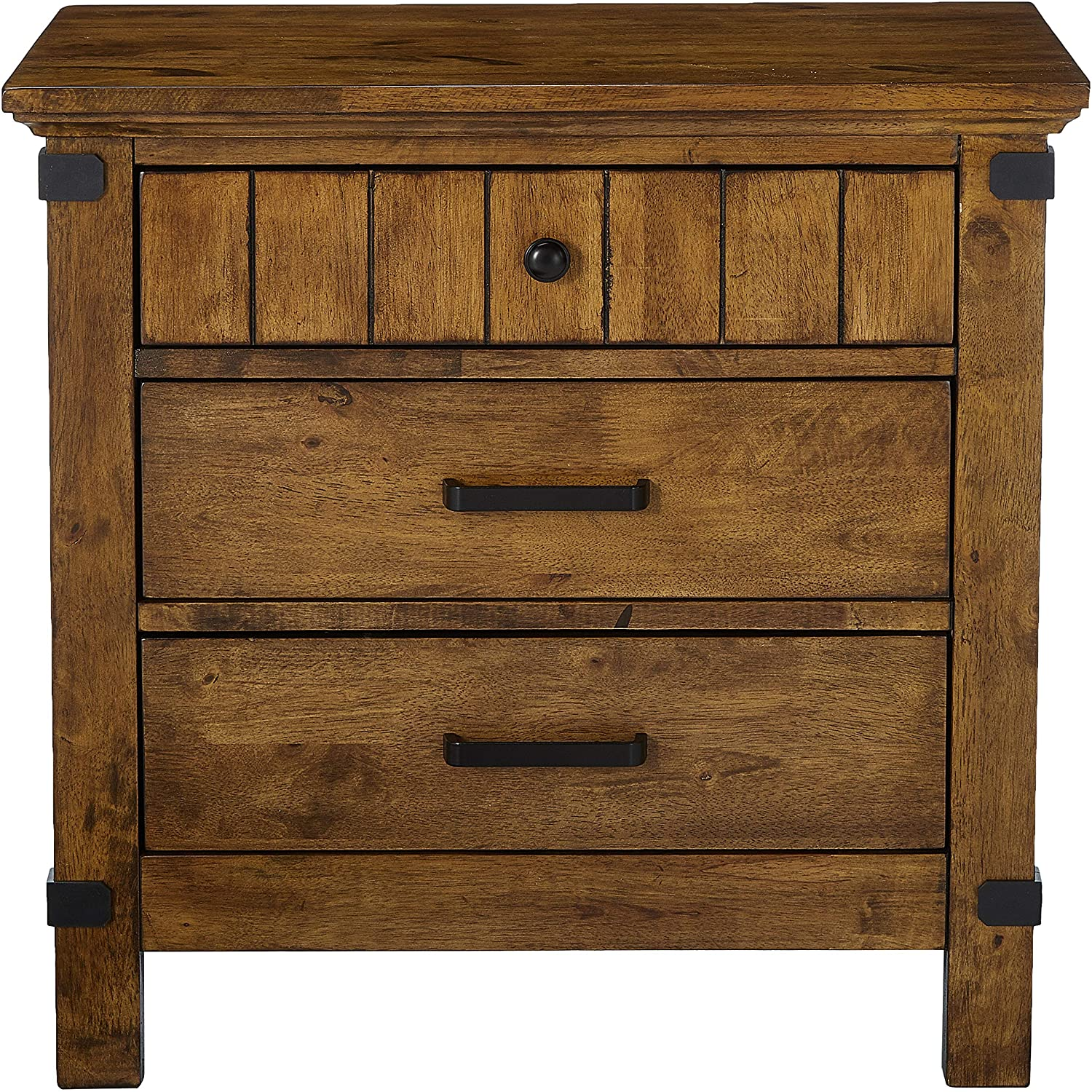 Brenner Collection Night Stand - Rustic Honey Finish