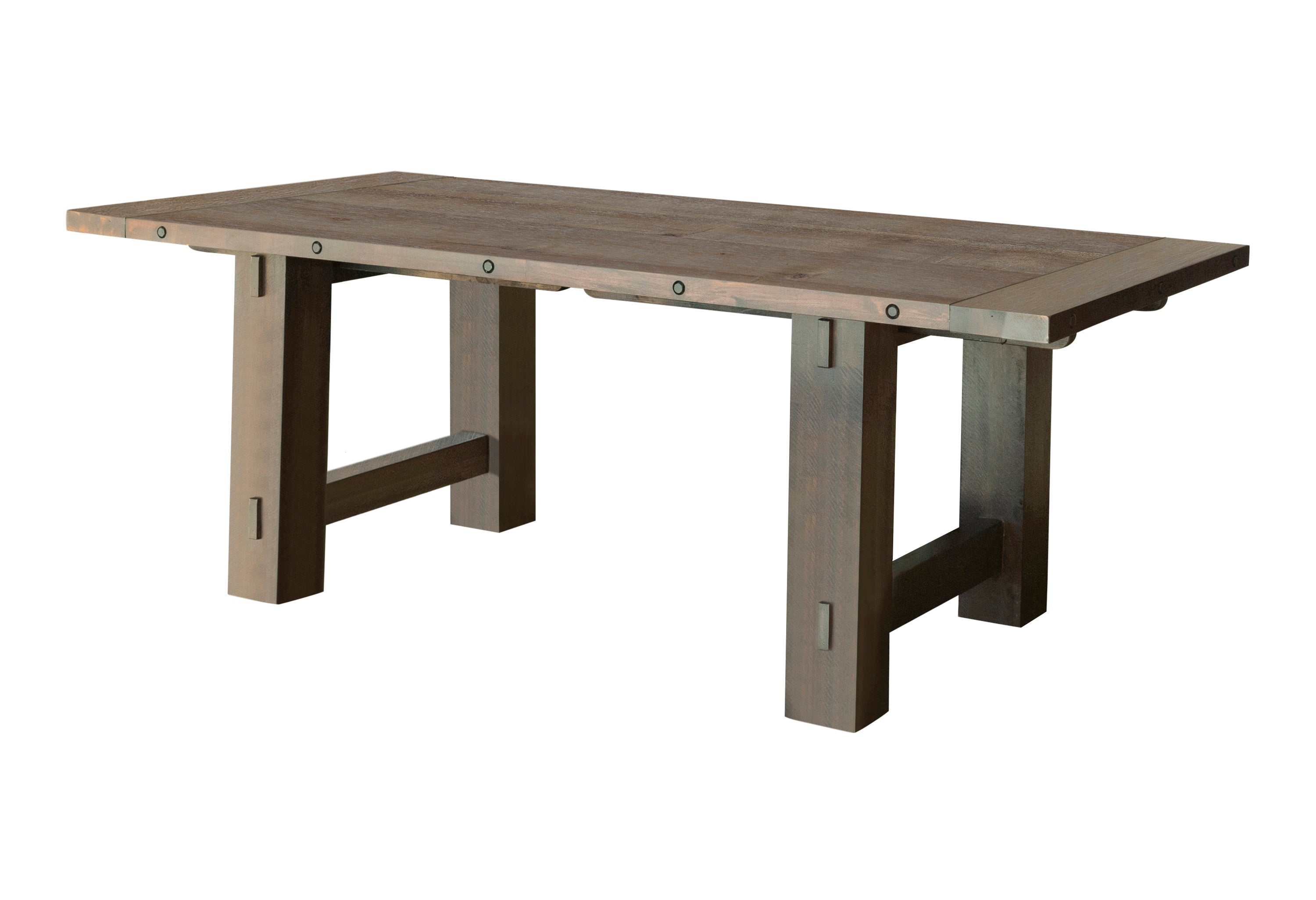 Calandra Collection Solid Wood Trestle Dining Table