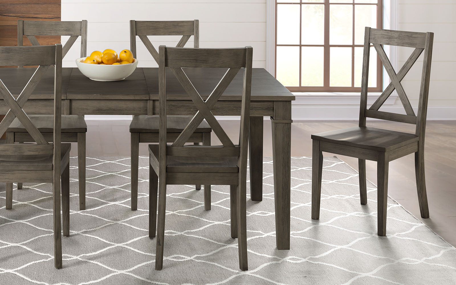 Huron Collection X Back Dining Chair, Distressed Gray (Set of 2 - $99ea)