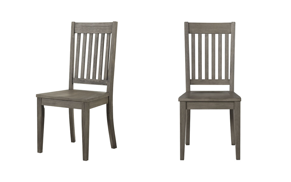 Huron Collection Slat Back Dining Chair, Distressed Gray (Set of 2 - $99ea)