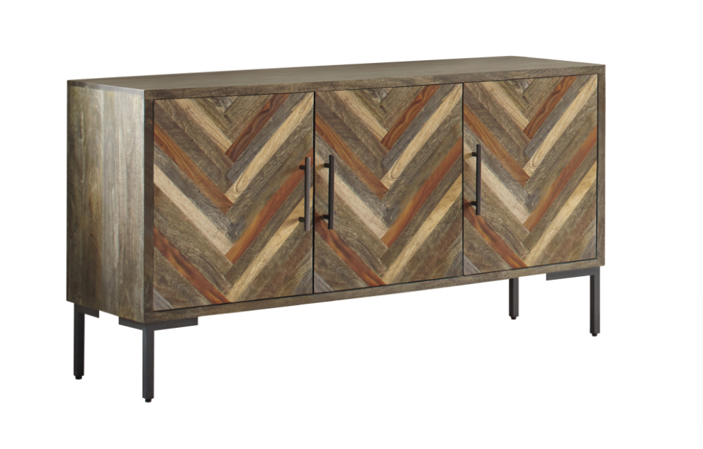 Misty Collection Chevron Sideboard